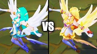 Star Guardian Soraka vs Prestige Star Guardian Soraka Skins Comparison (League of Legends)