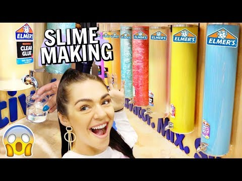 MAKING SLIME AT ELMERS SLIME MAKING STATION at World Slime Convention 2019!!