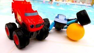 Мультики для детей - Машинки в аквапарке...