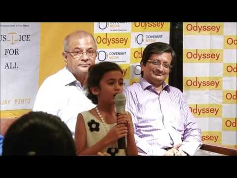 """Launch of """"JUSTICE FOR ALL"""" by Sanjay Pinto at Odyssey book store on 28th nov 2016"""