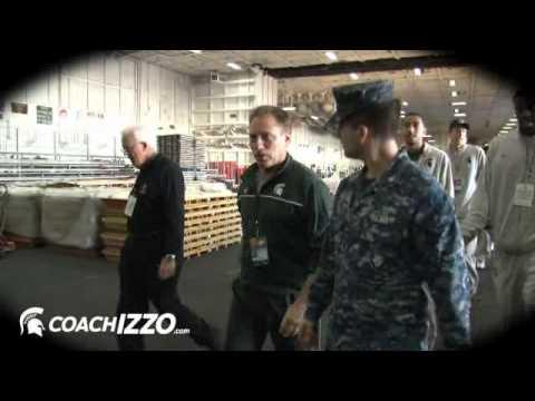 Spartans Visit USS Carl Vinson