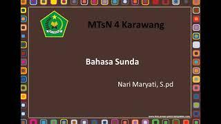 Undak-Usuk Basa Sunda (Paguneman pt.2)