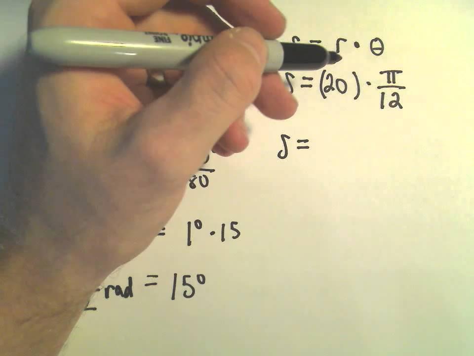 Arc Length Formula - Example 1