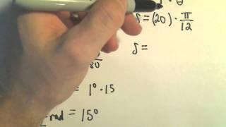 Arc Length Formula Ex le 1
