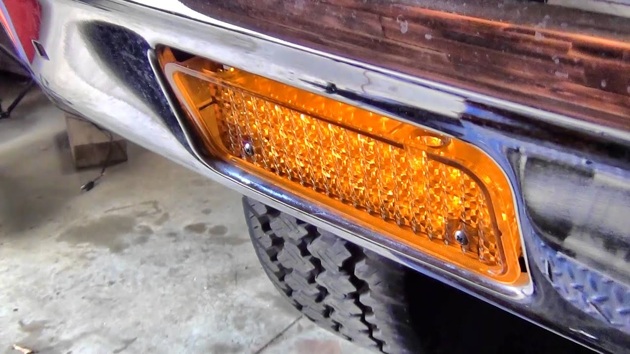 1971 1972 Led Parking Lights Chevy Gmc Truck Youtube Wiring Harness