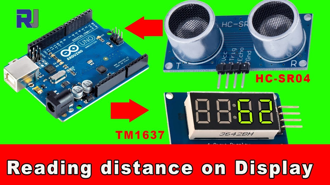 How to use HC-SR04 Ultrasonic range finder with TM1637 display
