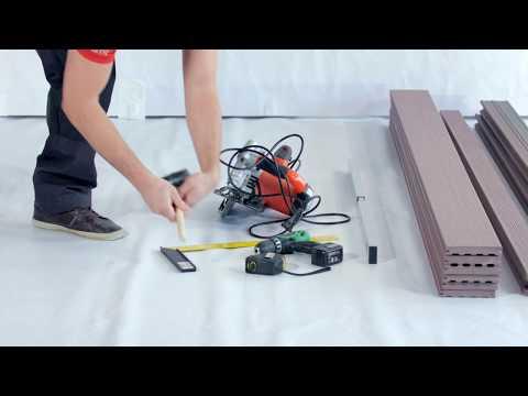 Montáž terasy WoodPlastic / Instalation of WoodPlastic decking