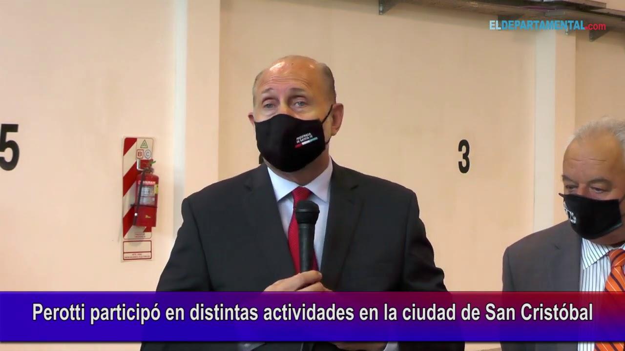 Perotti Participó en distintas actividades en la ciudad de San Cristóbal