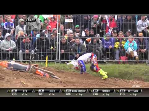 Monster Energy FIM MXoN Latvia FULL Race 1 Replay 2014