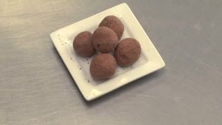 Easy Chocolate Truffle With Strawberry Jam Recipe : Chocolate Candy Creations