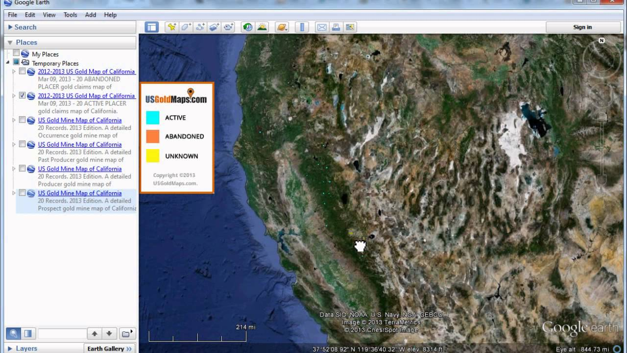 US Gold Maps FREE Download Demo For USGM QuadView Active - Us gold map