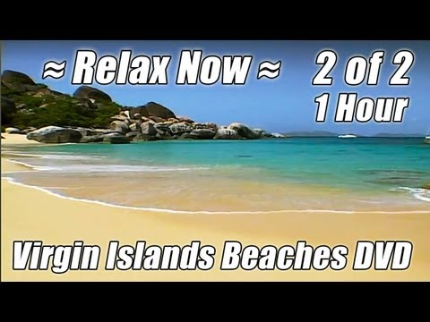 Those Relaxing Sounds of WAVES 2 Tropical Ocean Beaches Wave Sounds VIRGIN ISLANDS BEACHES video
