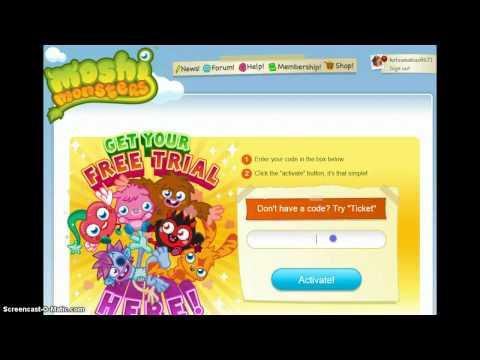 Moshi Monsters codes rox and membership plus get Priscilla!