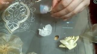 Вышивка лентами или как использовать остатки шелковой органзы