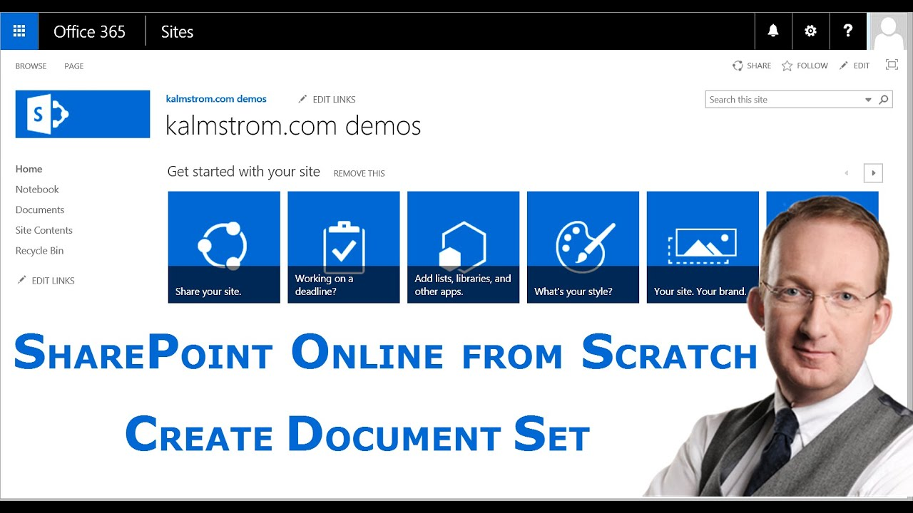sharepoint online document set create youtube