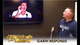 Garth Brooks RESPONDS To Simon Cowell's Call Out Over Michael Ketterer | America's Got Talent 2018