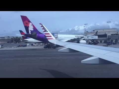 (HD 60 FPS) Virgin America A320 - Taxi and Takeoff from Honolulu Int'l Airport