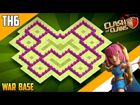New BEST TH6 WAR/TROPHY[defense] Base 2018!! COC Town Hall 6 War Base Design - Clash of Clans