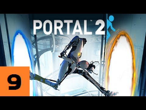 Let's Play BLINDish PORTAL 2 - Part 9 - Cave Johnson