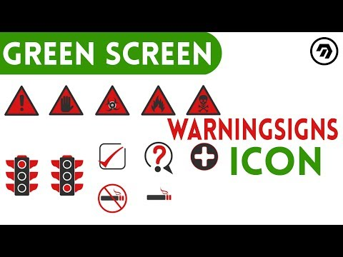 Green Screen warning signs Icon | mrstheboss