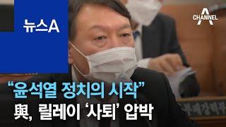 """""""조국 수사, 윤석열 정치의 시작""""…與, 릴레이 '사퇴…"""