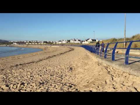 Beautiful Trearddur bay sandy beach on Anglesey in January 2018