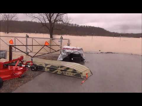 Ohio valley dragway is under water .