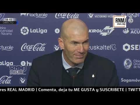 Rueda de prensa de ZIDANE post Osasuna 1-4 Real Madrid (09/02/2020)