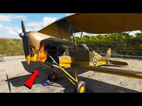 Stupid Guy Fixing Planes - Plane Mechanic Simulator |