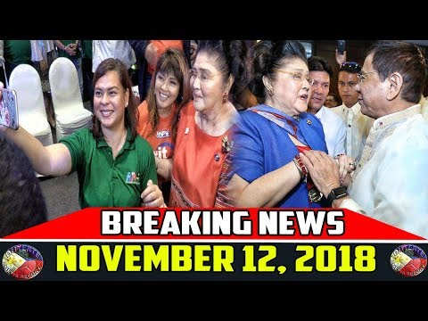 BREAKING NEWS NOVEMBER 12 2018 | DUTERTE iN SINGAPORE | IMELDA MARCOS | BONG GO | BERNA ROMULO