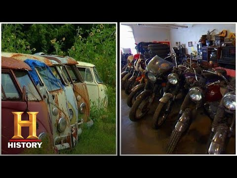 American Pickers: BIG COLLECTION Of VW Buses And BSA Motorcycles (Season 3) | History
