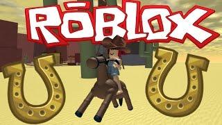 HORSES RIDEABLE EN ROBLOX?! | ¡Escapa disyate del Salvaje Oeste! Amy Lee33