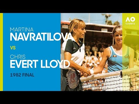 Martina Navratilova v Chris Evert Lloyd - Australian Open 1982 Final | AO  Classics - YouTube