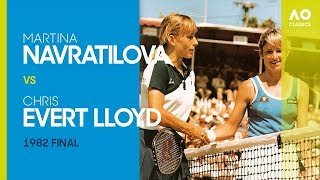 AO Classics: Martina Navratilova v Chris Evert Lloyd (1982 F)