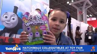 """Toys""""r""""us President Of Play Ariana Gentry Plays With Hatchimals Colleggtibles At Ny Toy Fair"""
