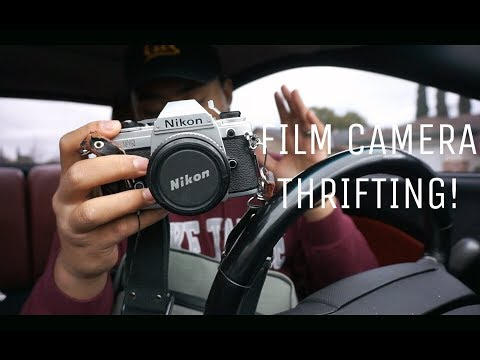 Film Camera Thrifting || NIKON SLR AND LENSES!