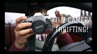 Film Camera Thrifting    NIKON SLR AND LENSES!