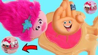 What's inside TROLLS Poppy The Emoji Movie Slime Jelly Belly Brain