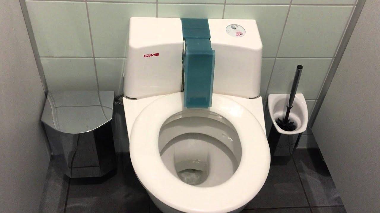 Modern toilet (WC) in Germany - YouTube