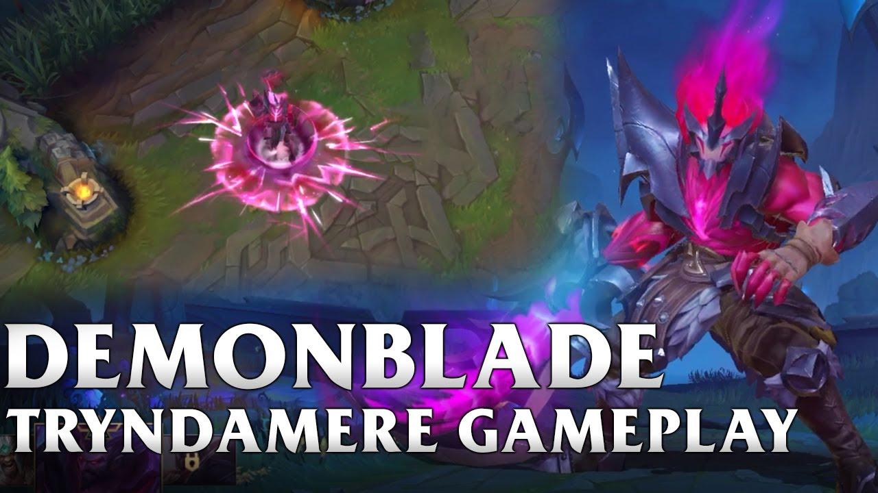 Demonblade Tryndamere Gameplay  - WILD RIFT