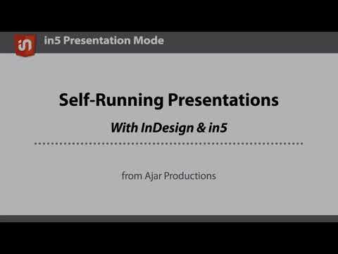 Create Awesome Slides from InDesign using in5's Presentation