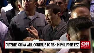 Duterte: China will continue to fish in Philippines EEZ