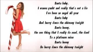 Ariana Grande - Santa Baby Karaoke / Instrumental with lyrics on screen