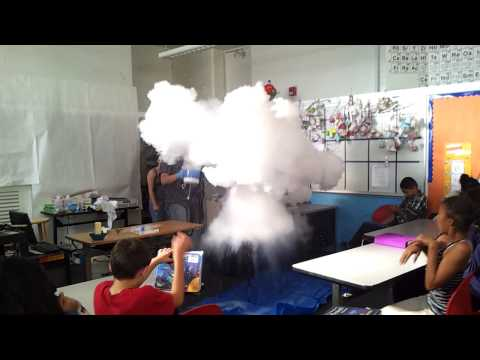 Hot water + liquid nitrogen mushroom cloud