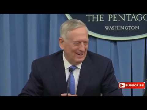 2017.04.11 Mattis: Assad Never Used SarinGas/NerveAgent On His People Before Now