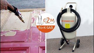 Présentation de la Sableuse aérogommeuse 20 litres c2m