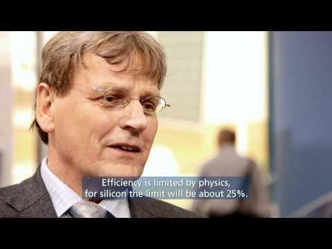 Prof. Dr. Eicke Weber of Fraunhofer ISE talks to Sharp at Intersolar 2011