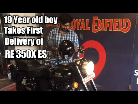 19 Year Boy Takes First Ever Delivery Of ROYAL ENFIELD 350X ES In India | SELF EARNED | MUST WATCH