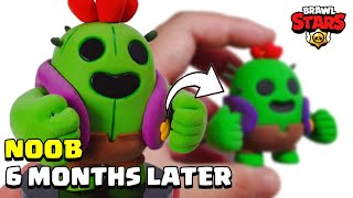 Making brawl stars Spike - clay Art - 6 MONTHS LATER