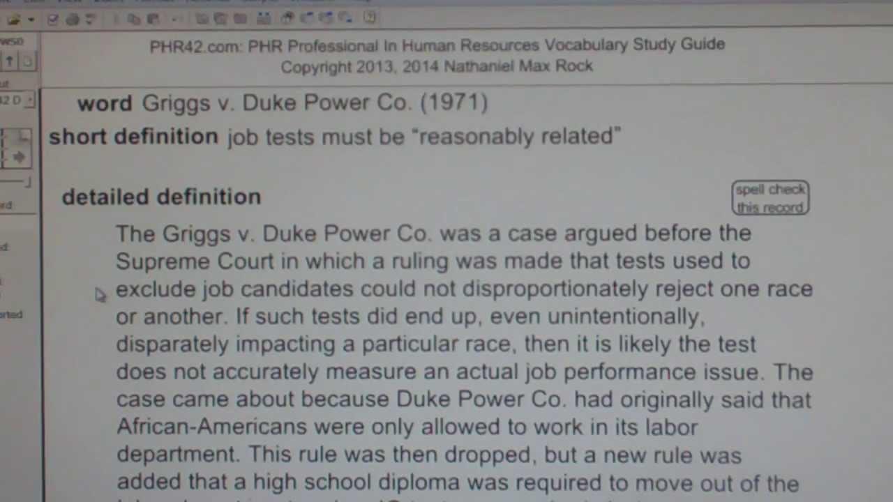 griggs vs duke power company